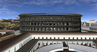 """Archaeologists have modeled Rome in three dimensions, and users can """"fly"""" through the ancient city's winding streets, broad plazas, forums—even the Coliseum."""