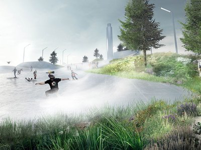Visitors to CopenHill can ski or snowboard on four artificial slopes, a slalom course and a freestyle park.