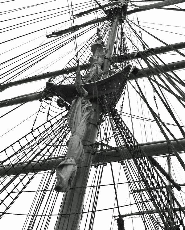 The mainmast of the USCG Cutter Eagle thumbnail
