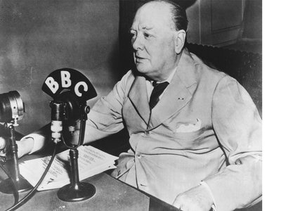 January 2015 marks 50 years since the death of Winston Churchill, shown here in 1943, known for his writing and speeches.