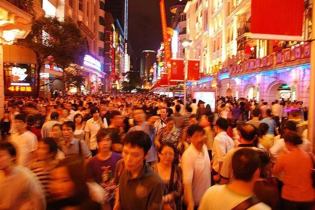 A crowd in Shanghai