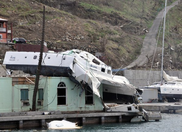Hurricane Irma blew this yacht out of the water thumbnail