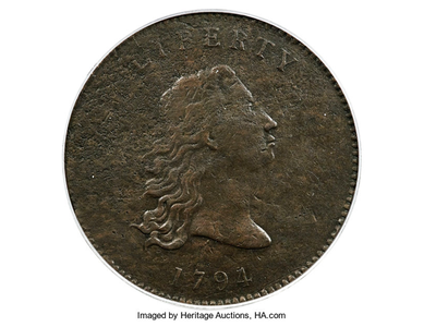 """The copper prototype dates to 1794, the year that the U.S. Mint first struck its famed """"Flowing Hair"""" silver dollars."""