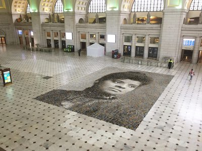 An artist's rendering of the mosaic, which is on view at Union Station in Washington, D.C. through August 28