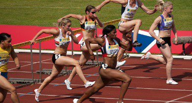 Can you predict how fast these women will run the 100m hurdles? Math might.
