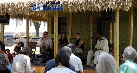 Presenters discuss the Peace Corps at the 2011 Smithsonian Folklife Festival.