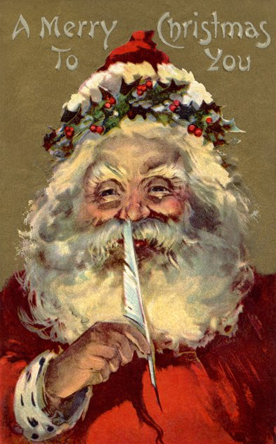 Glowing Santa