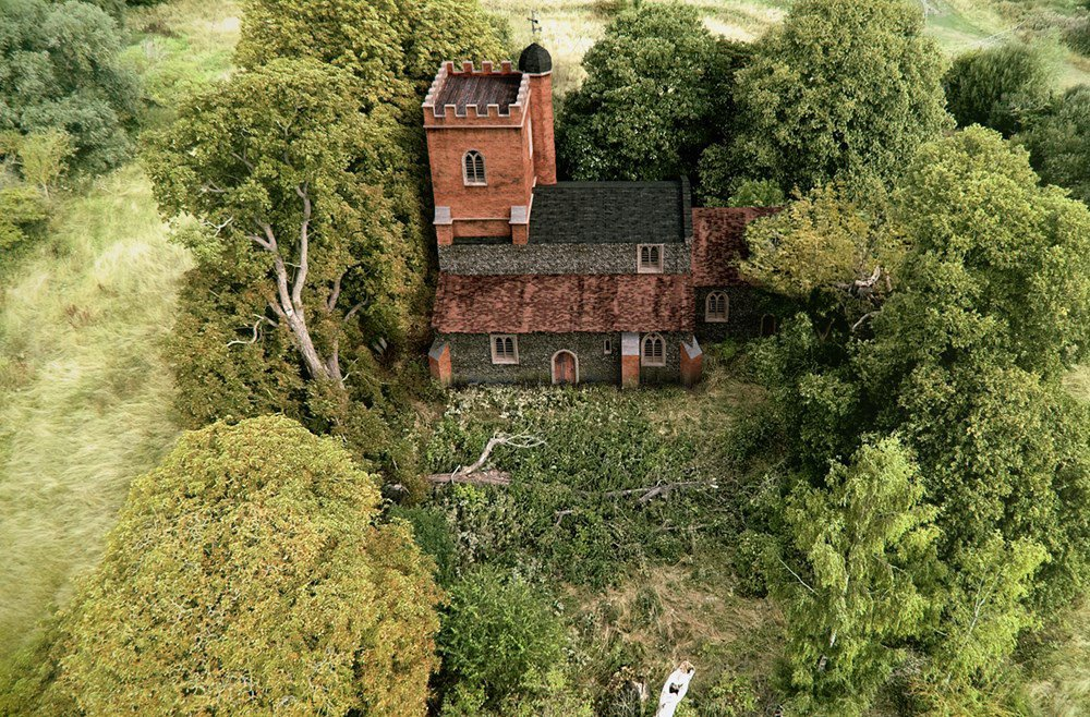 A CGI digital illustration of the medieval church recently unearthed in Stoke Mandeville, Buckinghampshire.