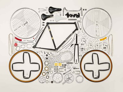 Bicycle made by Raleigh in the 1980s in 893 pieces