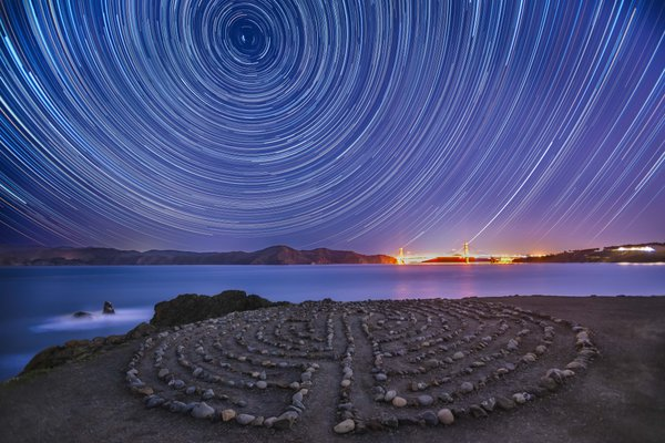 Star Trails at Land's End thumbnail