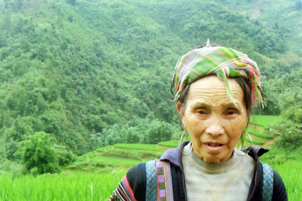 My native guide into the terrace rice fields of Sa Pa Valley. thumbnail