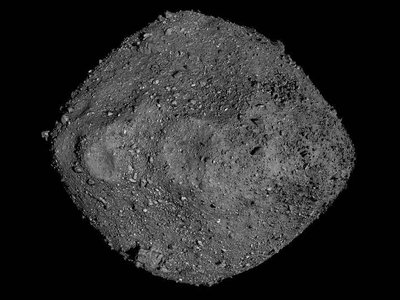 This mosaic of Bennu was created using observations made by NASA's OSIRIS-REx spacecraft that was in close proximity to the asteroid for over two years.