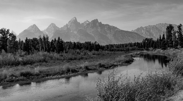 The Tetons in Black and White thumbnail