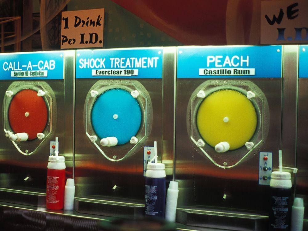 Daiquiri Mixing Machines at Wet Willie's