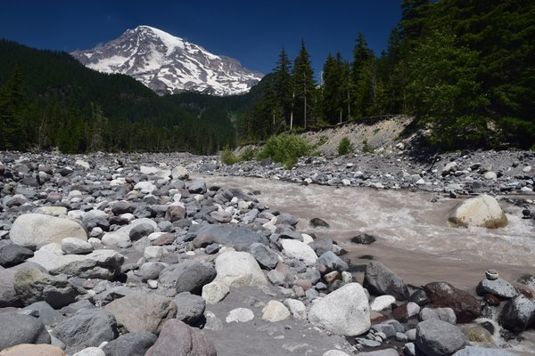 Rushing Waters Of The Ohanapecosh River In Mount Rainer National Park thumbnail