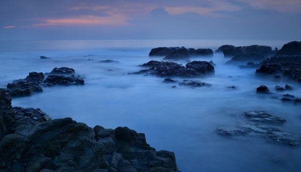 Comfortably sunrise at the Coronado beach in Panama. thumbnail