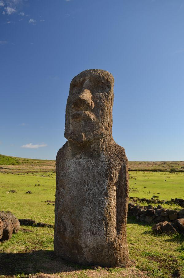 'The Travelling Moai' at Ahu Tongariki thumbnail