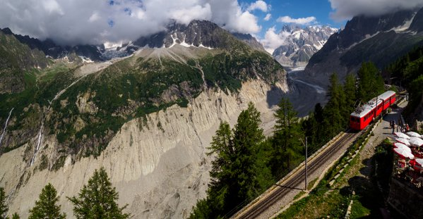 The Mer de Glace and the Monteveners Train thumbnail