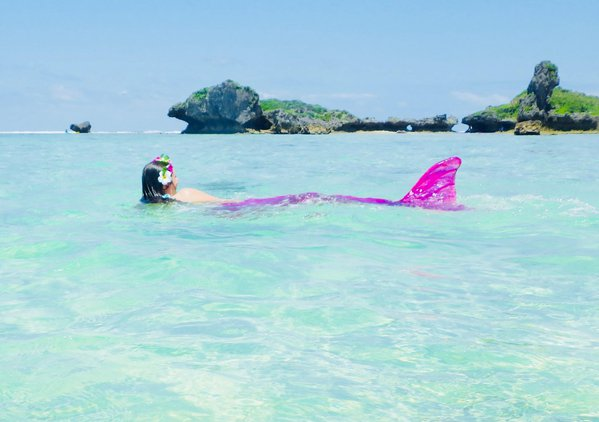 A mermaid sighting at Maeda Flats Okinawa Japan thumbnail