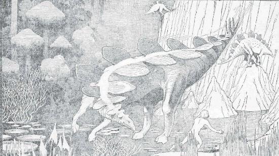 A gliding Stegosaurus