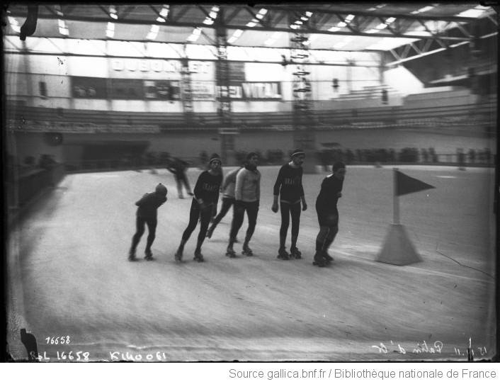 A 24-hour roller skating endurance competition in Paris, held in 1911