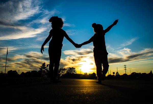 Radiating innocence- two small town girls thumbnail