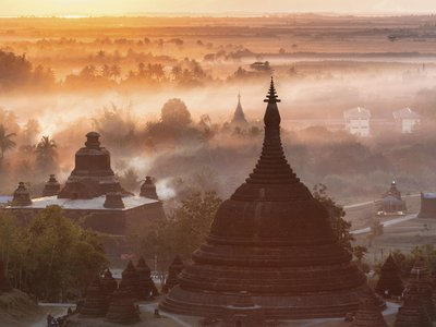 In the 1600s, the Arakan empire's capital, Mrauk U, had 160,000 inhabitants. The 200-foot spire of Ratanabon temple attests to eclipsed glories.