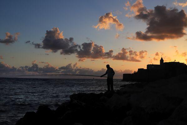 Fishing At Sunset thumbnail