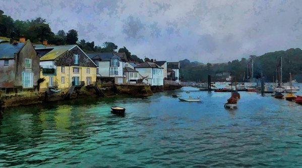 Fowey oil painting thumbnail