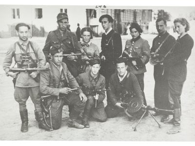 Group of Jewish partisan fighters in Soviet territories