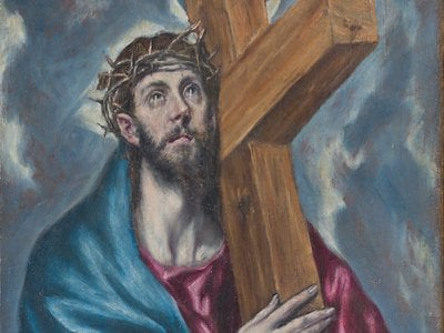 Detail from Christ Carrying the Cross, a work newly attributed to Greek painter El Greco