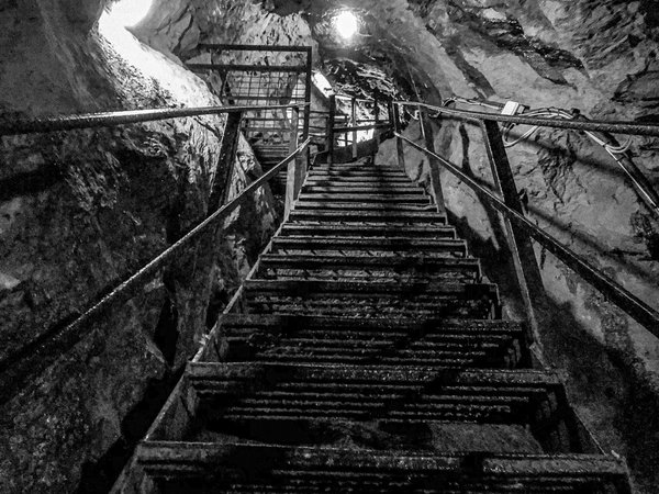 The remains of a staircase found in the depths of the copper mines of Ireland thumbnail