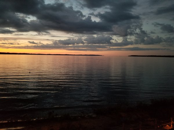 Sunset over Grand Traverse Bay in Traverse City, Michigan. thumbnail