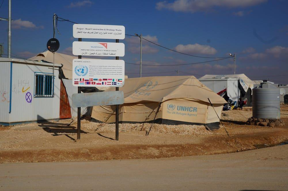 A scene from Zaatari refugee camp, Jordan.