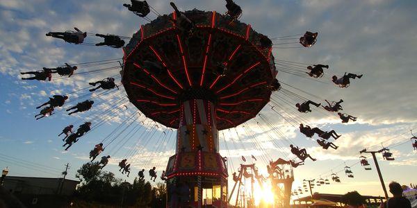 Flying into a beautiful sky at the fair thumbnail