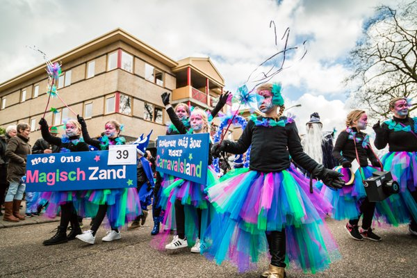 Dutch carnival goers performing as fairies thumbnail