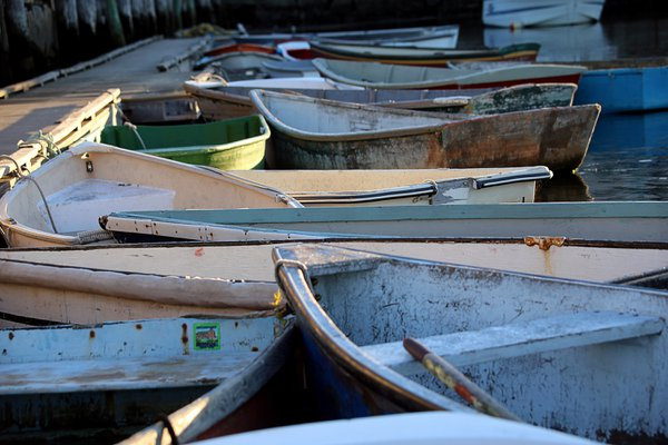 Boats tied to Bradley Wharf thumbnail