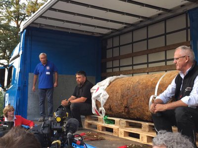 """The """"Blockbuster"""" bomb after it was defused"""