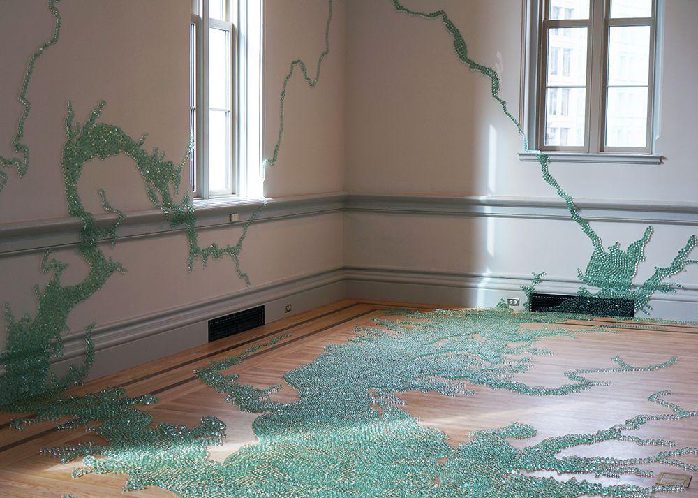 Maya Lin, Folding the Chesapeake, 2015