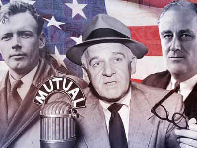 Charles Lindbergh, Walter Winchell and Franklin D. Roosevelt (L to R) are among the public figures fictionalized in Philip Roth's The Plot Against America.