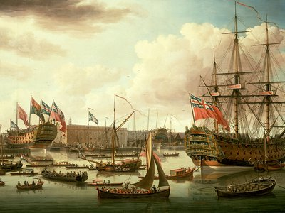 The British Navy was a big deal in the 1700s.