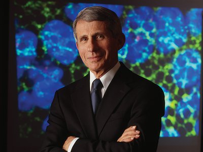 Anthony Fauci is America's point person in confronting epidemics.