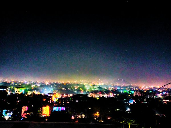 Night view from the mountain. thumbnail