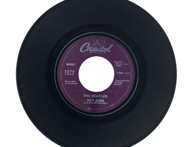 """With """"Hey Jude,"""" (above: the Smithsonian's 45 rpm single),  the Beatles """"seem to have struck their most resonant chord,"""" says John Troutman, the curator of American music at the National Museum of American History."""