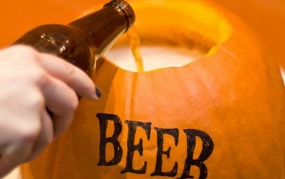 Pumpkins and beer make for golden photo ops and marketing gags–but the theme is beginning to feel old.