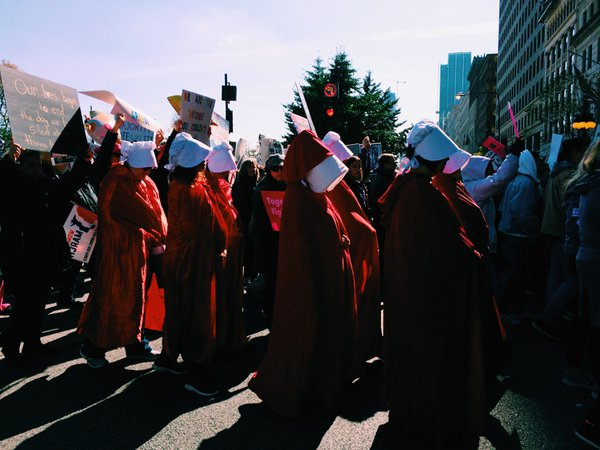 Handmaids at Women's March Chicago: March to the Polls thumbnail