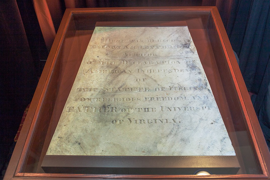 Bringing Thomas Jefferson's Battered Tombstone Back to Life