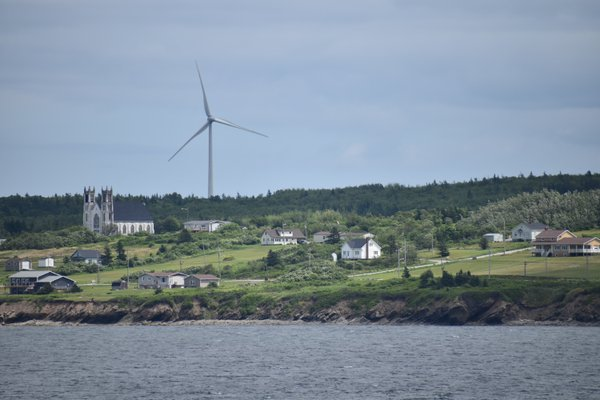 Wind Turbine and 102 Year Old Church thumbnail