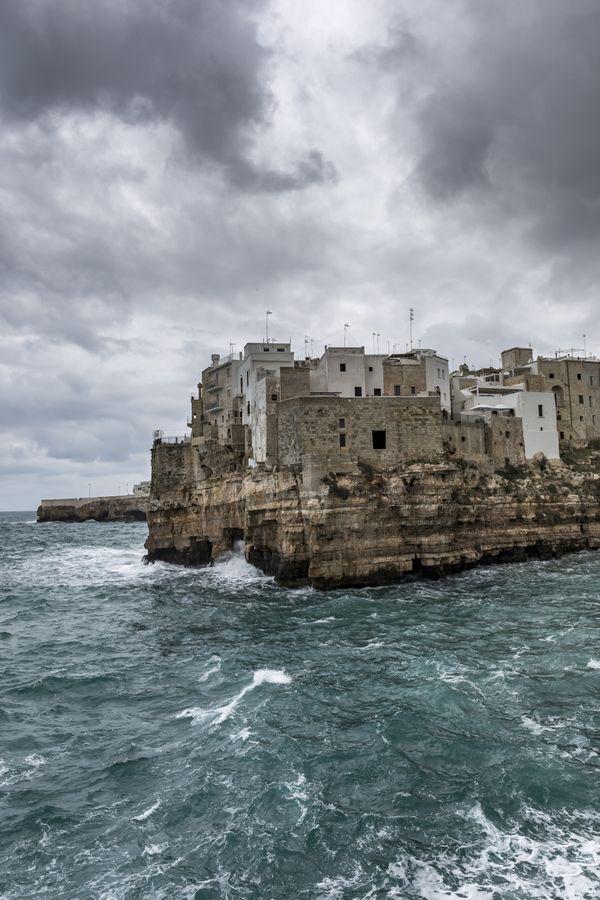 Stormy Day at Polignano a Mare thumbnail