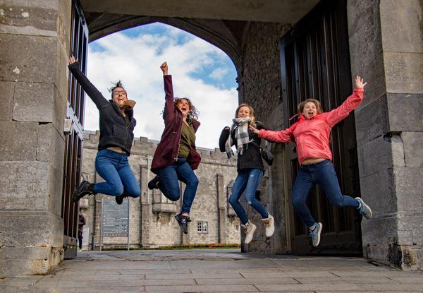 Jumping for Joy at Butler Castle, Kilkenny, Ireland thumbnail
